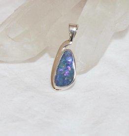 Australian Opal Pendant ~ teardrop shape