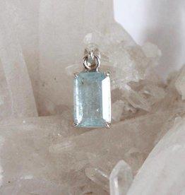 Aquamarine Pendant ~ faceted rectangle
