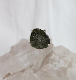 Moldavite Ring ~ freeform