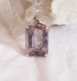 Amethyst Faceted Pendant Rectangle