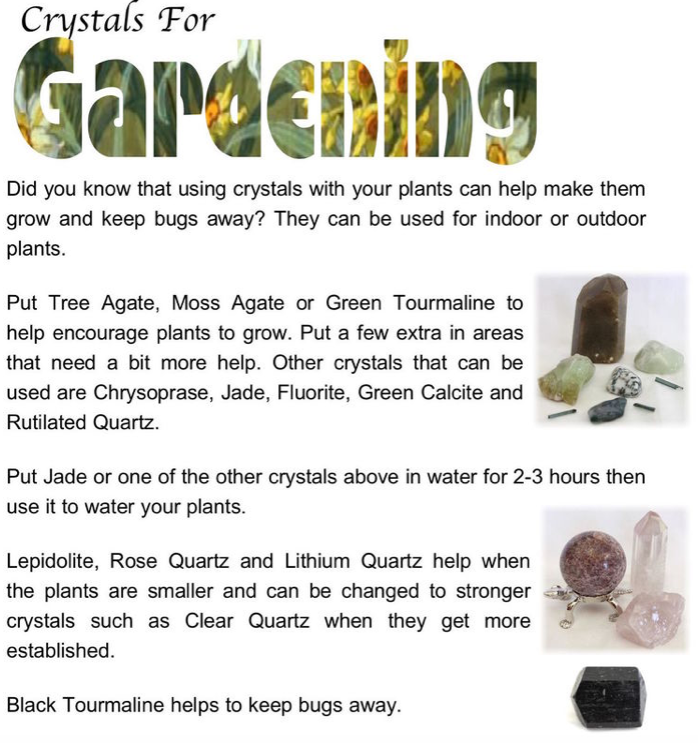 Crystal Tips - Crystals For Gardening - Soul Food Crystals & Books