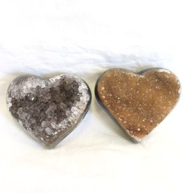 Amethyst Cluster Heart ~ Brazil