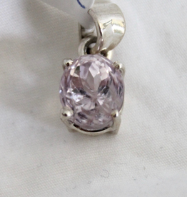 Kunzite Pendant ~ faceted oval