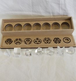 Nature's Expression Quartz Sacred Geometry Set ~ 7 pieces, includes merkaba and sphere