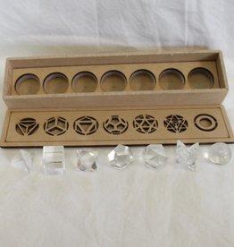 Quartz Sacred Geometry Set ~ 7 pieces, includes merkaba and sphere