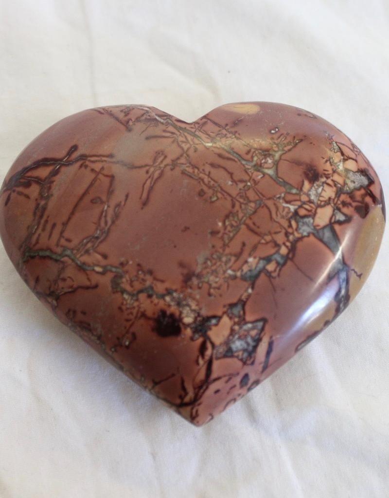 Picture Mookaite Jasper Heart ~ Morocco