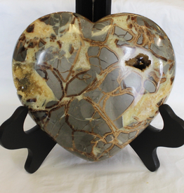 Septarian Heart with Calcite