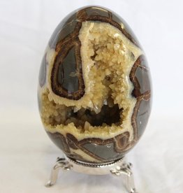 Septarian Nodule Dragon Egg with Calcite