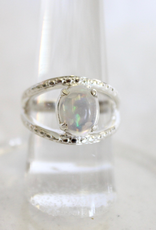 Ethiopian Opal Ring ~ textured band