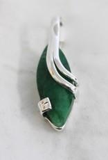 Ruby, Emerald or Sapphire Wrap Around Pendant