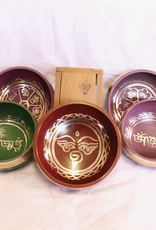 Coloured Mini Singing Bowls strikers included ~ Nepal  Notes of A# B, D & E