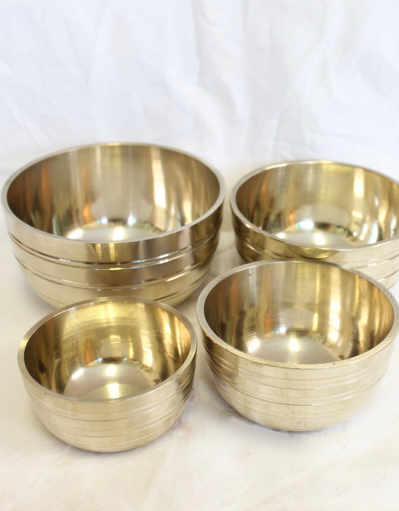 Singing Bowl Set of 4, includes 1 striker ~ Nepal   Notes of F, C, G & C-H