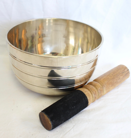 Brass Singing Bowl includes striker ~ Nepal   Note of F