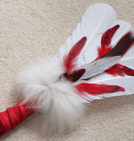 Smudge Feather - Shaman Feather Red