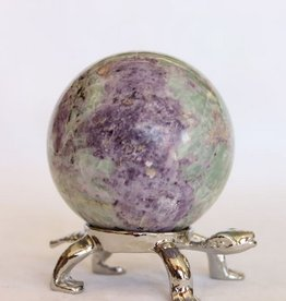Green and Purple Opalized Fluorite Sphere ~ Peru