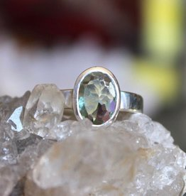 Blue Tourmaline Ring ~ Oval Faceted