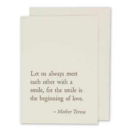 folio2p Mother Teresa - Smile
