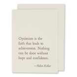 folio2p Helen Keller - Optimism