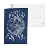 folio2p Over the Moon Postcard
