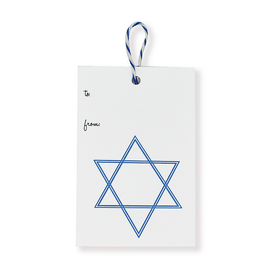 folio2p Star of David - Gift Tag