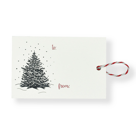 folio2p Winter Tree - Gift Tag