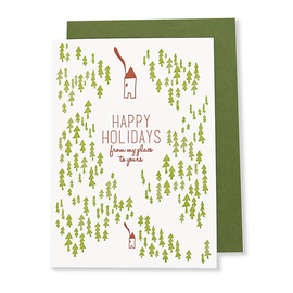 folio2p Happy Holidays My Place to Yours (Box of 6 w/eps)
