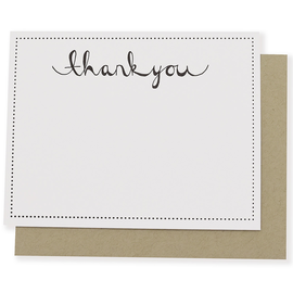 folio2p Dotted Thank You (Box of 6 w/eps)