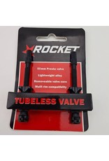 TUBELESS VALVE 60MM BLACK
