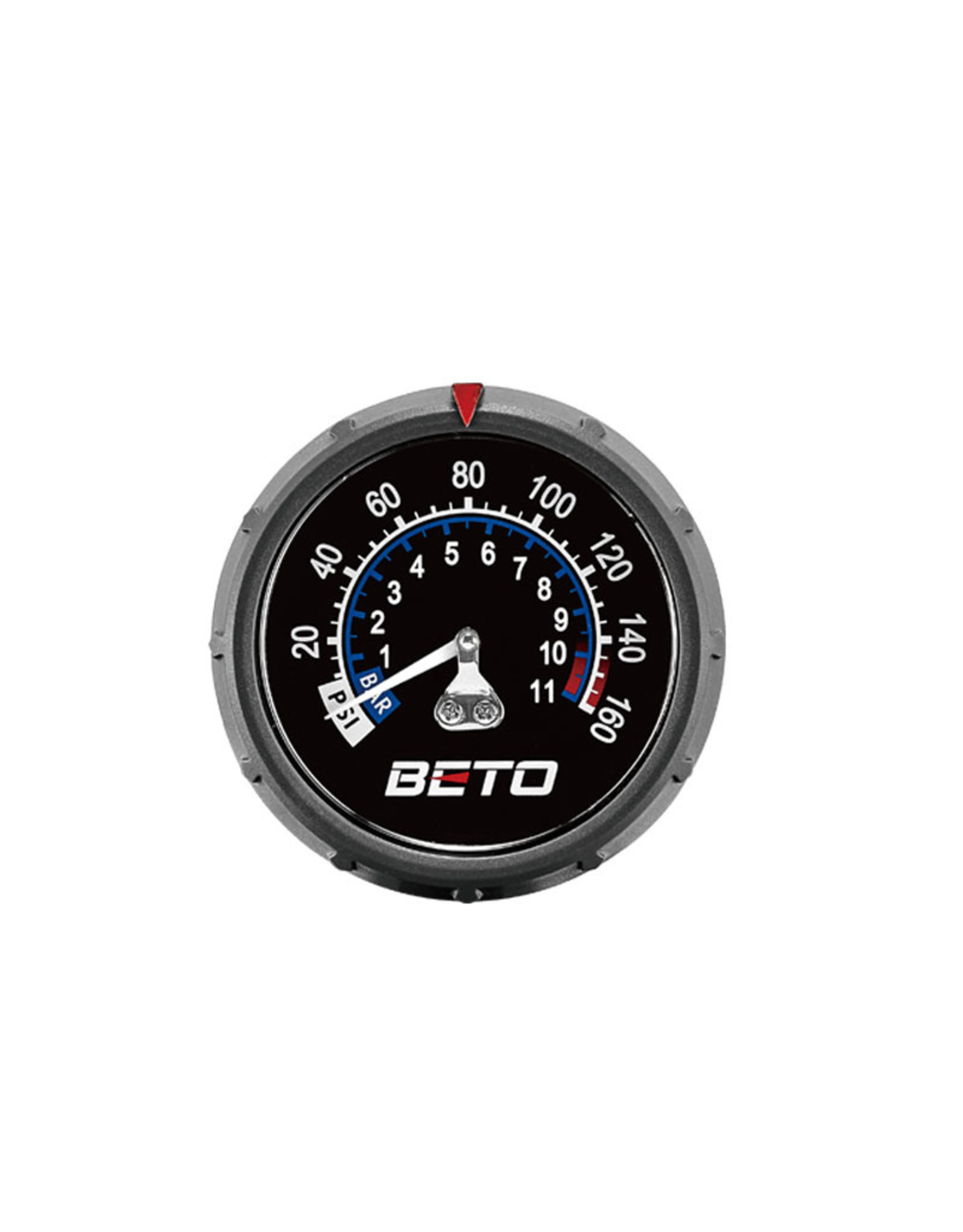 BETO STEEL FLOOR PUMP W/GAUGE CHROME