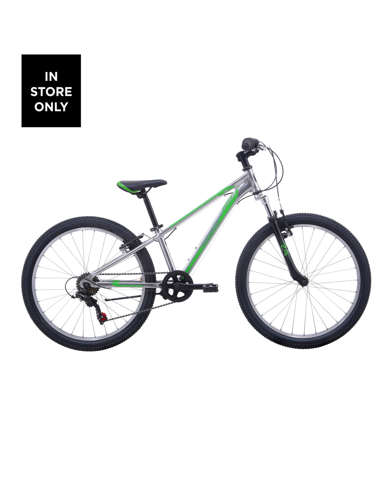 "MALVERN STAR MVS ATTITUDE 24"" GREY/LIME"