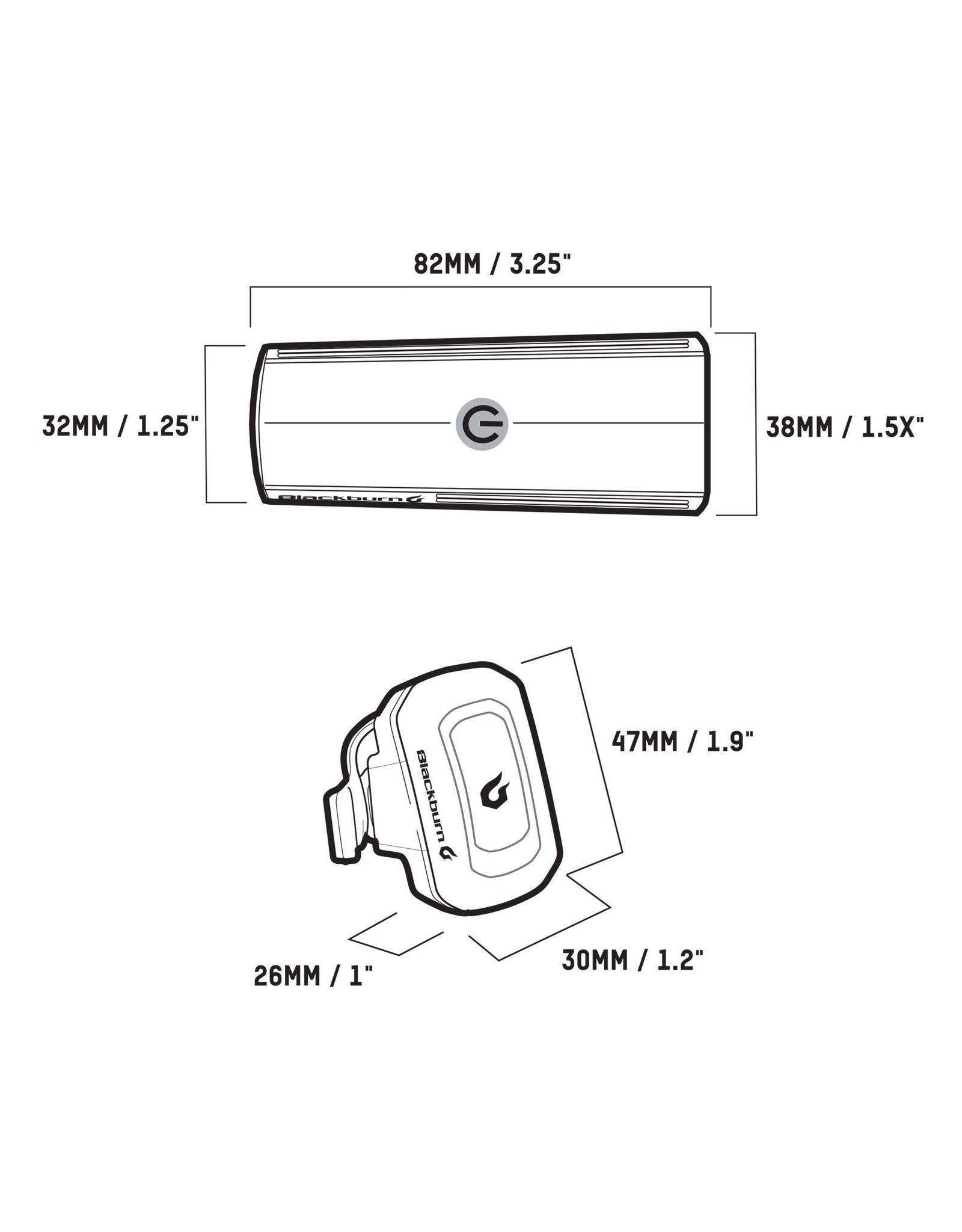 Blackburn BKB DAYBLAZER 400 FRONT and CLICK USB REAR