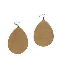 Harvest Ethiopia Leather Teardrop Earrings