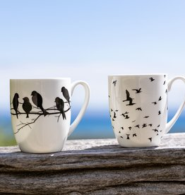 Bird Silhouette Mug Set