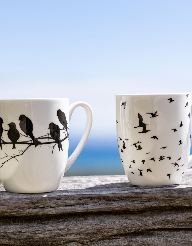 Bird Silhouette Mug Set