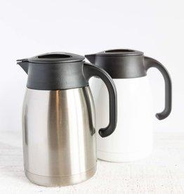 Blue Mountain Tea Co. Pengu Stainless Steel Vacuum Pot White
