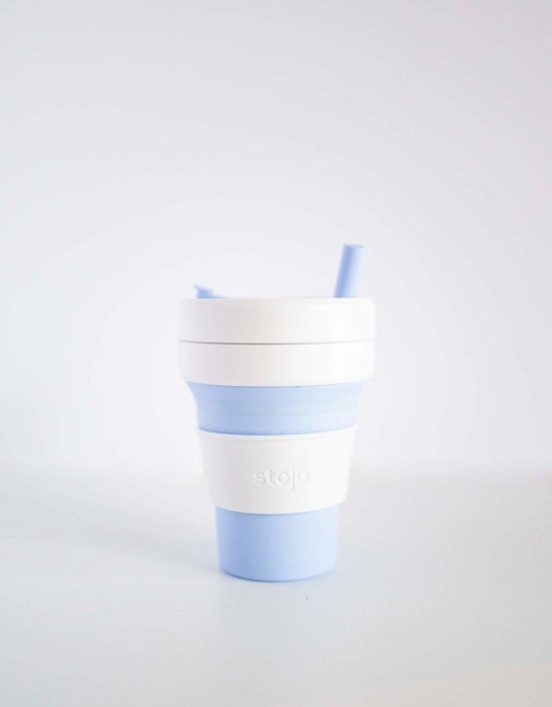 Stojo Stojo Mug 16 oz sky blue and white