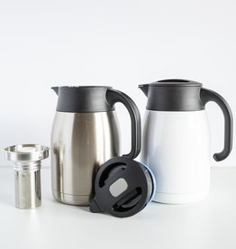 Blue Mountain Tea Co. Pengu Stainless Steel Vacuum Pot White