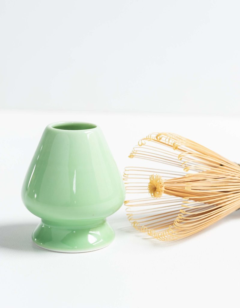 Blue Mountain Tea Co. matcha whisk holder green