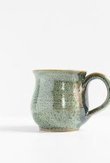 Leishman Pottery Green squat mug