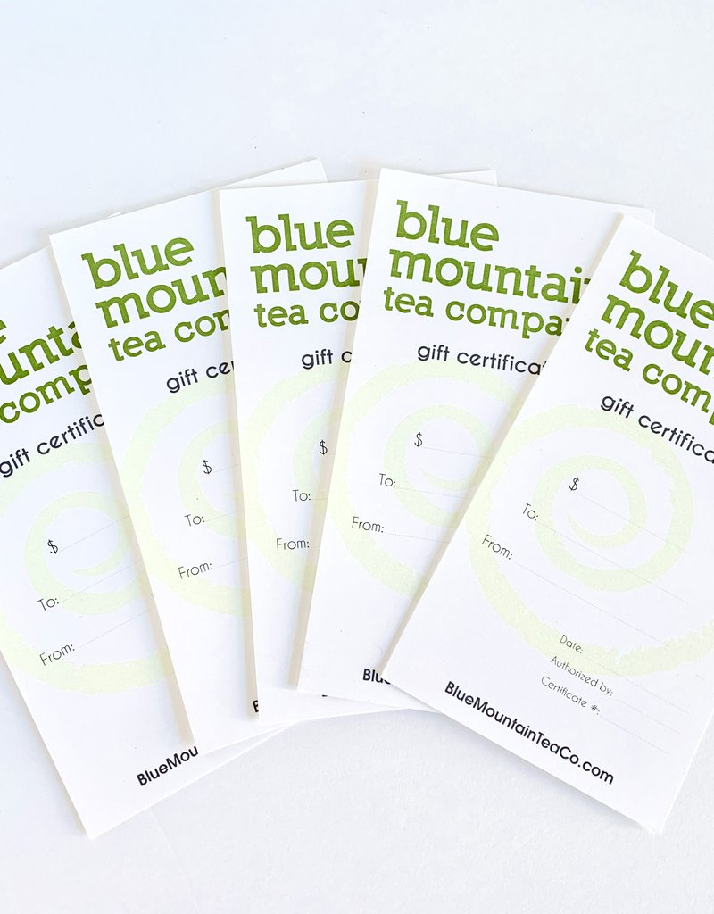 Blue Mountain Tea Co. Gift Certificate