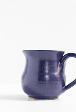 Leishman Pottery Dark Blue Squat Mug