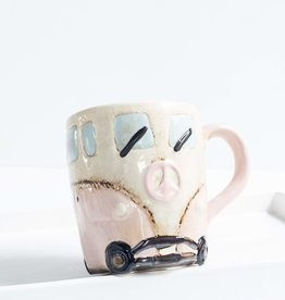 Blue Mountain Tea Co. Peace Van Hippie Mug Pink