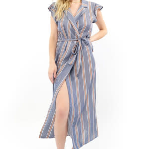 SALTWATER LUXE SALTWATER LUXE S1031 WRAP MAXI DRESS