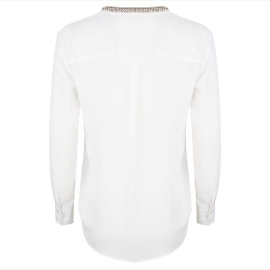 ESQUALO ESQUALO 16509 Tape Neckline Off-White Blouse  Reg. $59  Sale $45