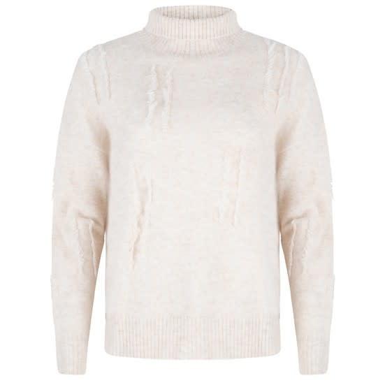 ESQUALO ESQUALO 03508 3D Fringe Sweater