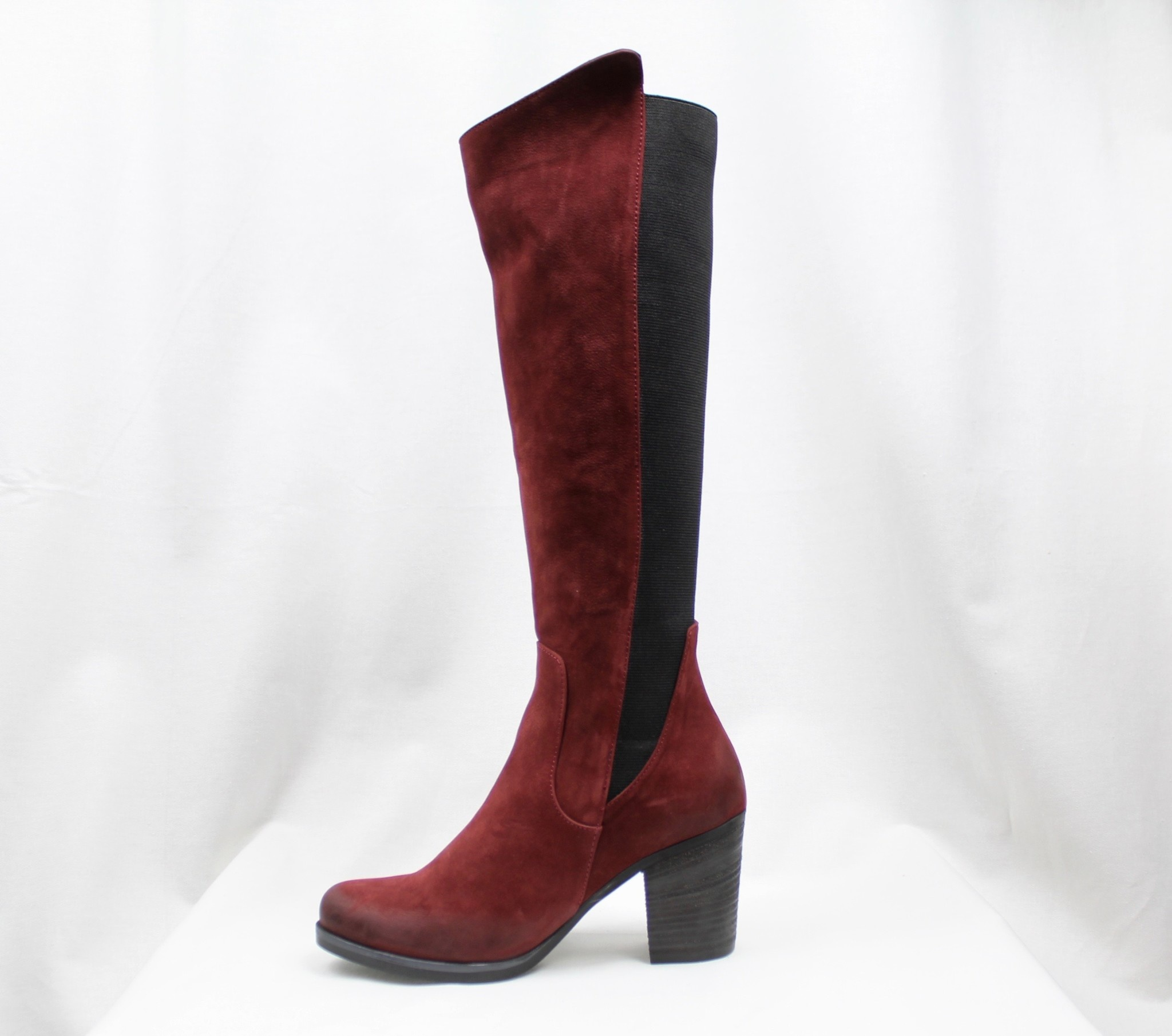 "BUENO BUENO ""WALT"" Red Nubuck Tall Boot"