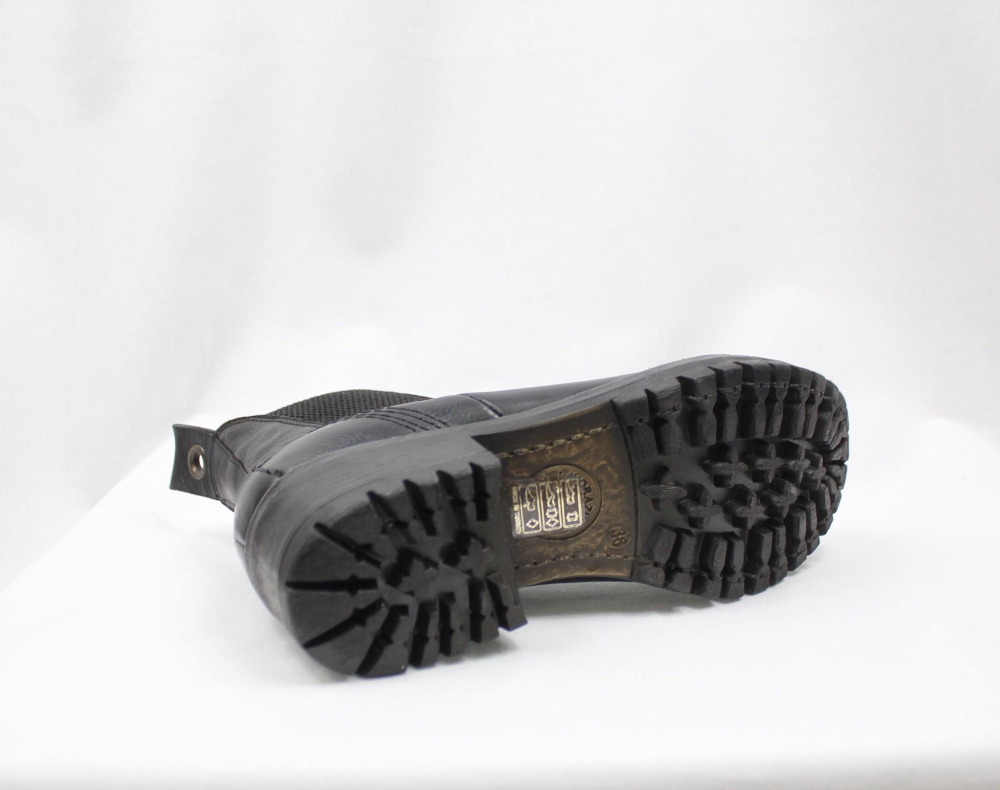 "BUENO BUENO ""FLORIDA"" Black Leather Chelsea Boot"