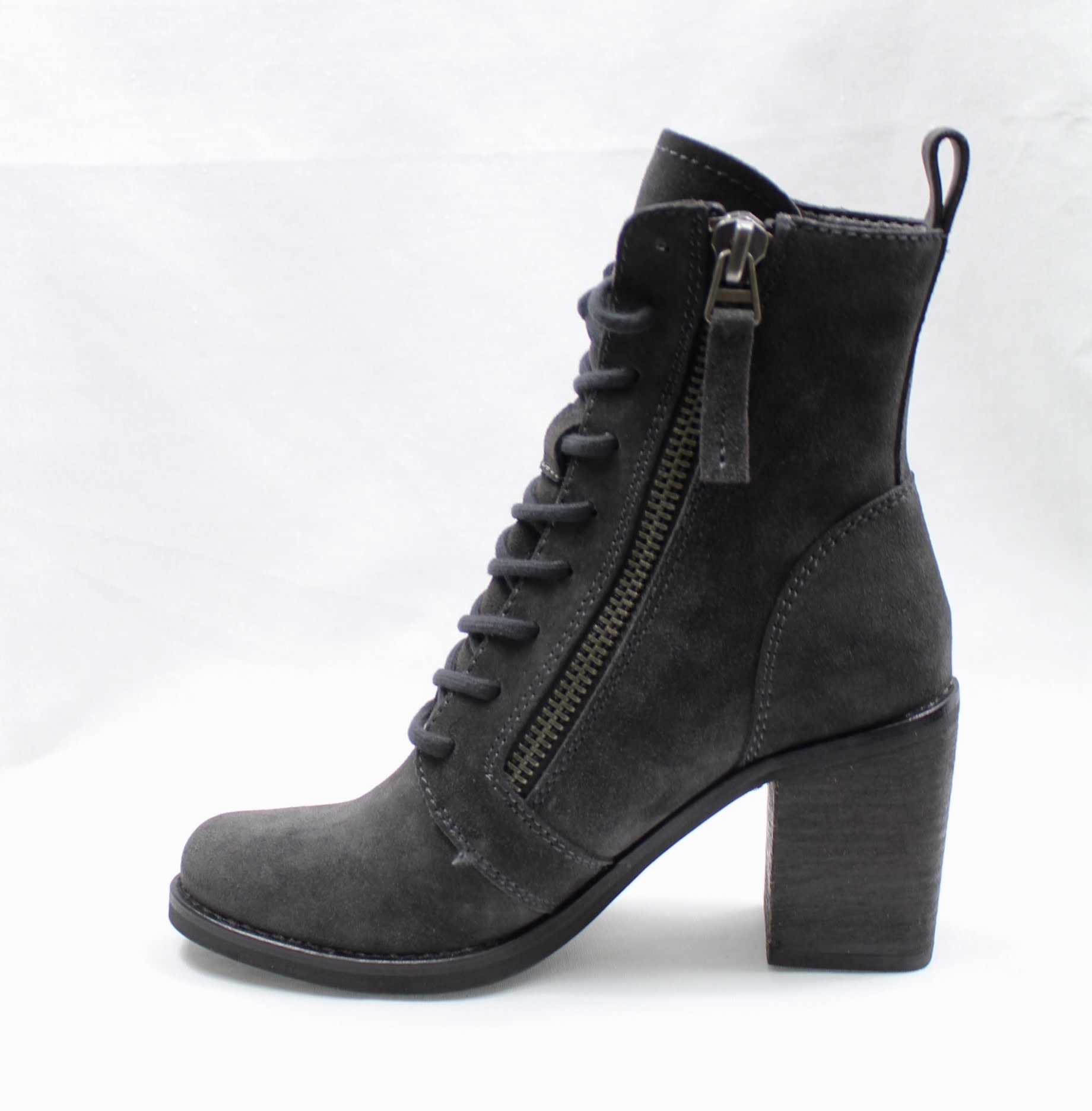 """DOLCE VITA DOLCE VITA """"LELA"""" Anthracite (Grey) Suede Lace-Up Boot"""