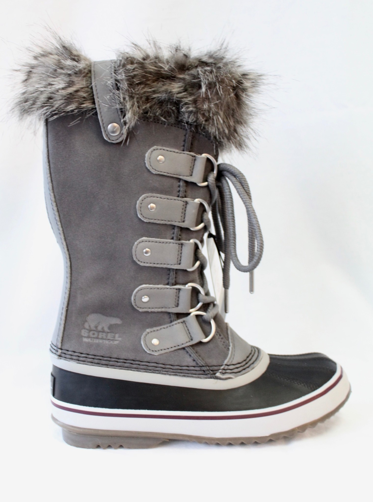 "SOREL SOREL ""JOAN OF ARCTIC"" WATERPROOF BOOT QUARRY (GREY) SUEDE RATED TO -32 CELCIUS  Reg. $240  Sale $144"