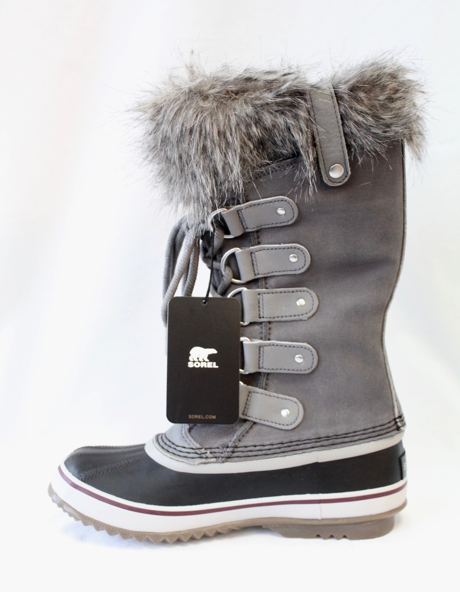 "SOREL SOREL ""JOAN OF ARCTIC"" WATERPROOF BOOT QUARRY (GREY) SUEDE RATED TO -32 CELCIUS"